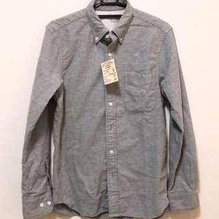 無印良品襯衫(灰)