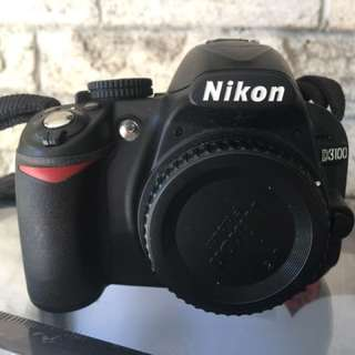 Nikon D3100 camera with 2 lens and accessories