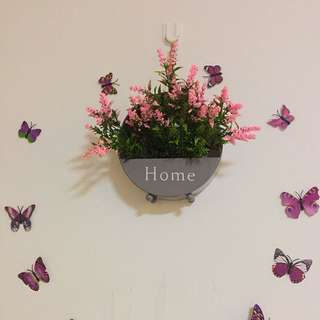 Beautiful Flower Pot with wall deco