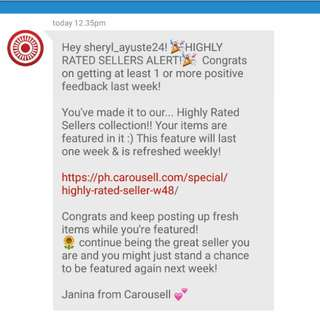 7th Time!  Thanks Carousell!  Highly Rated Seller again.