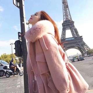 外套,粉色  焦糖色,小中大,