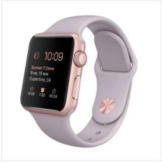 apple watch 玫瑰金—連原裝插電(38mm)