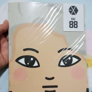 EXO Kai Notebook & EXO pouch