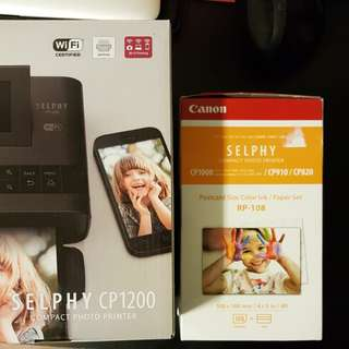 BNIB Canon Selphy CP1200 + printing paper set