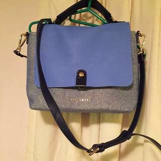 New Ted Baker VIVEANA Stab Stitch Leather Top handbag 真皮三用手袋