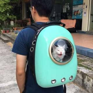 (Ready Stock) Mint Colored Astroaught Cat Carrier