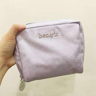 Benefit Cosmetic Purple Makeup Pouch