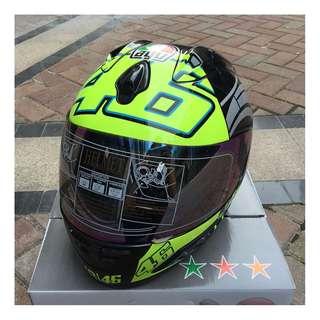 AGV 46 GREEN Motorcycle Monster Full Face Helmet