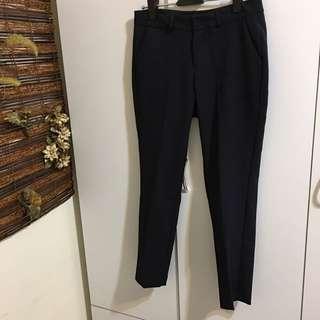 韓國購入韓國製 輕薄西裝壓摺褲