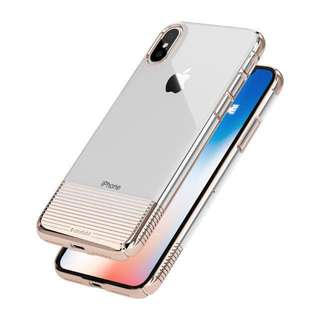 Caudabe Lucid Clear Metallic Silver iPhone X Case