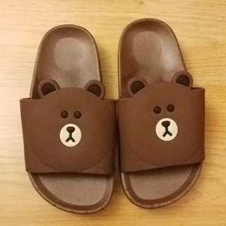 全新男童拖鞋 line 熊 內長16cm