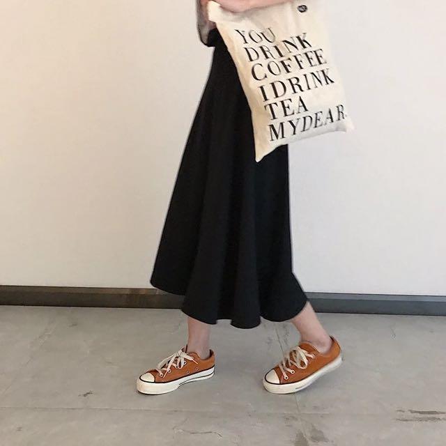 傘狀高腰裙
