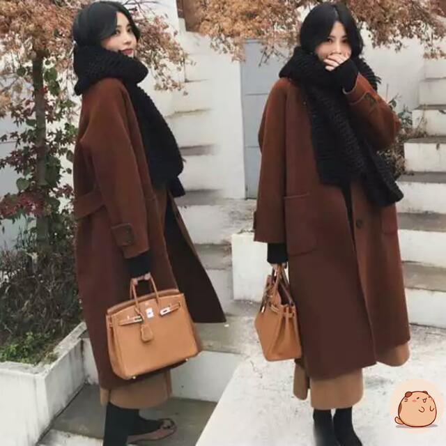 【全新】中長款冬季加厚冬装大衣外套
