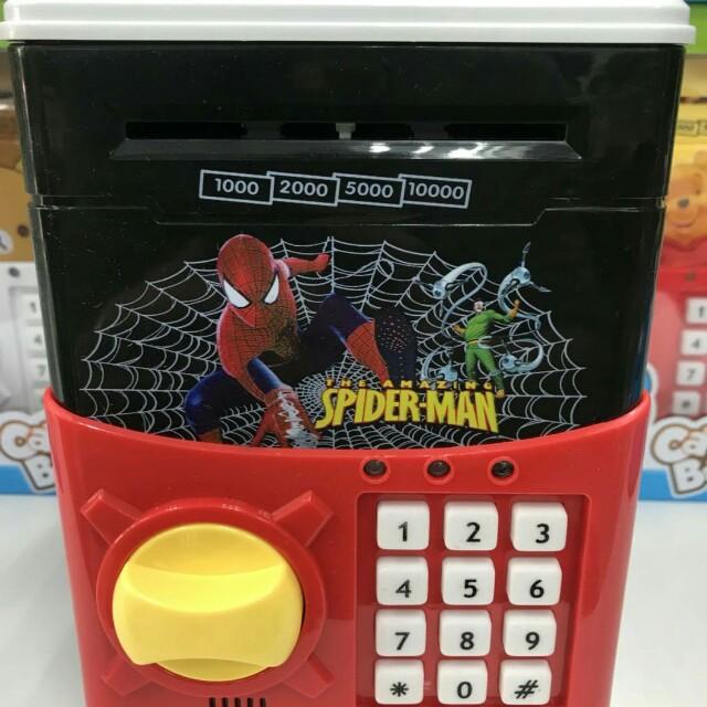 蜘蛛人密碼保險箱/兒童存錢筒