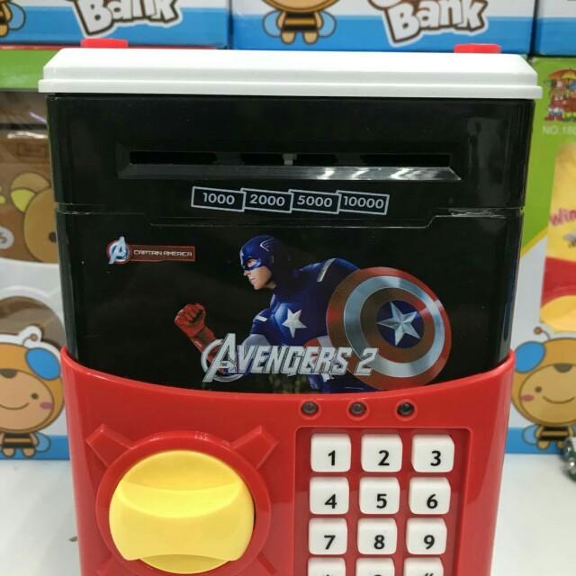 美國隊長密碼保險箱/兒童存錢筒