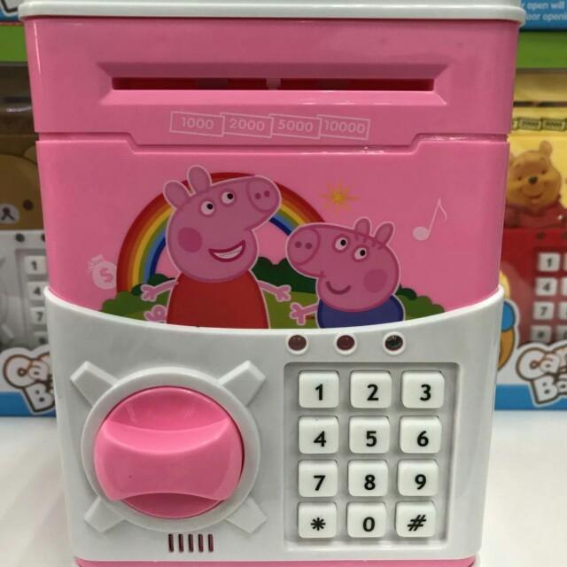 佩佩豬密碼保險箱/兒童存錢筒