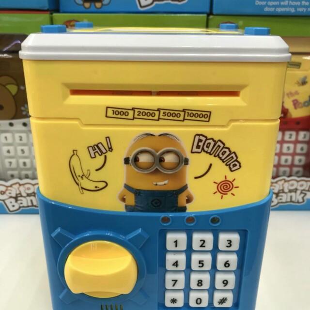 小小兵密碼保險箱/兒童存錢筒