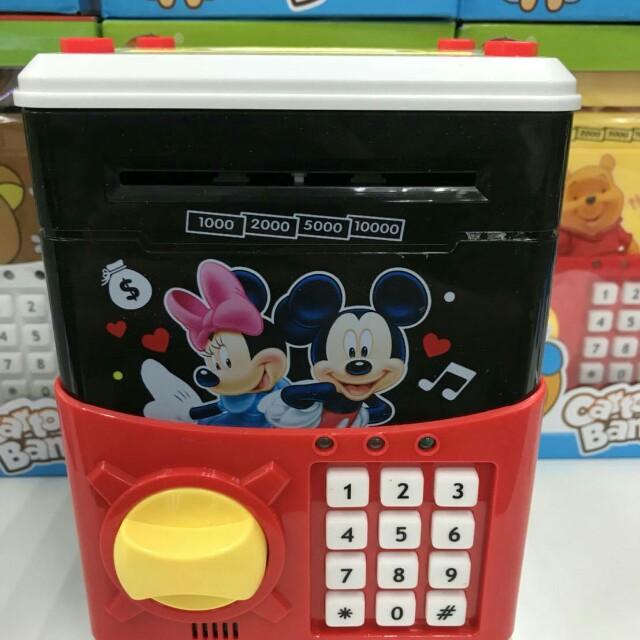 米奇米妮密碼保險箱/兒童存錢筒