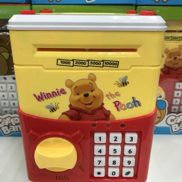 小熊維尼密碼保險箱/兒童存錢筒