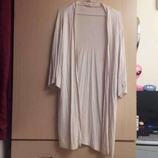 ,,輕薄超舒服七分袖長版罩衫,,