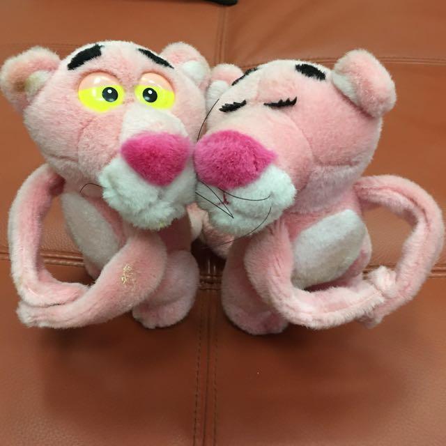 稀有頑皮豹夫妻 玩偶 娃娃