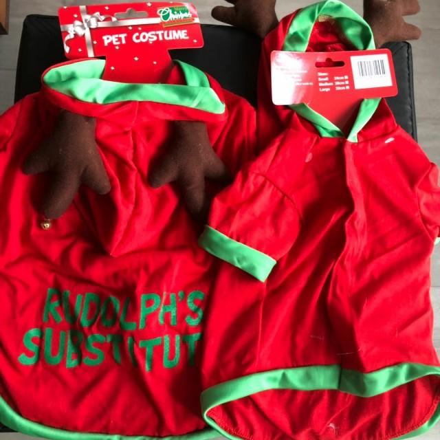 (包郵) 聖誕狗狗衫 / 衣服
