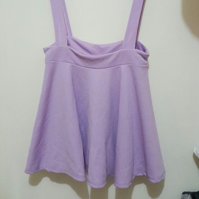 *全新 純色 馬卡龍 吊帶A字裙 裙子 短裙 吊帶裙 紫色 薰衣草色