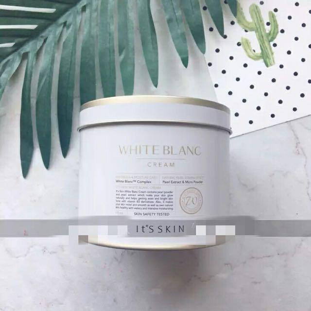 二手💡 韓國 it's skin white blanc cream 伊思 蝸牛素顏霜 珍珠美白素顏霜 保濕乳霜
