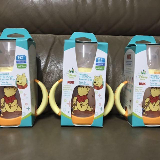 美國直送 NUK小熊維尼學習杯 6個月以上用 杯150毫升