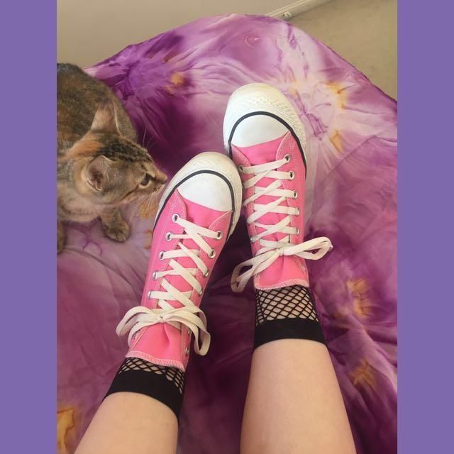 💗 Pink Platform Converse 💗
