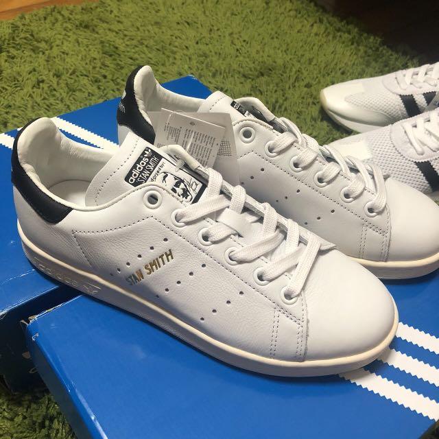 【Adidas】Originals Stan smith S75076 奶油底 金標 白底 黑尾巴
