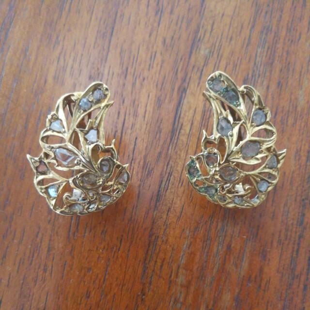 Antique Intan Gold earrings