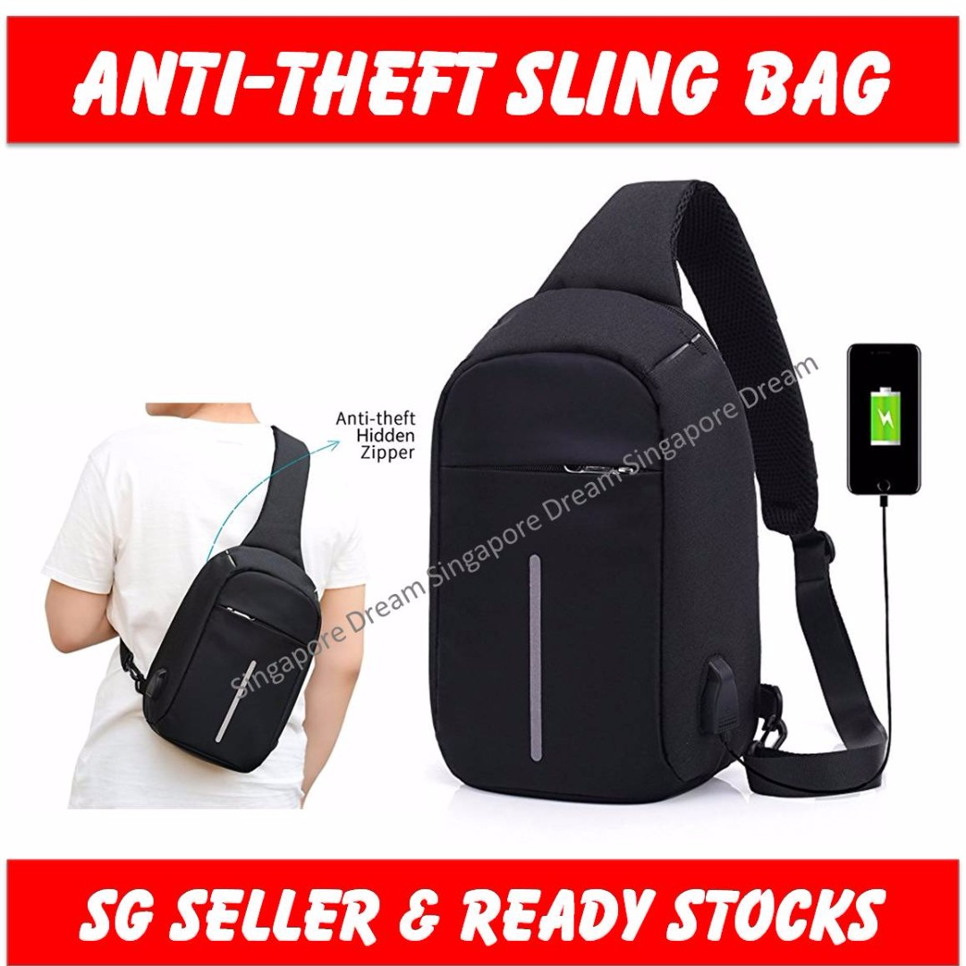 Anti-theft Sling Bag   Intelligent USB Charging Messenger Bag ... 0a4a905e2f43