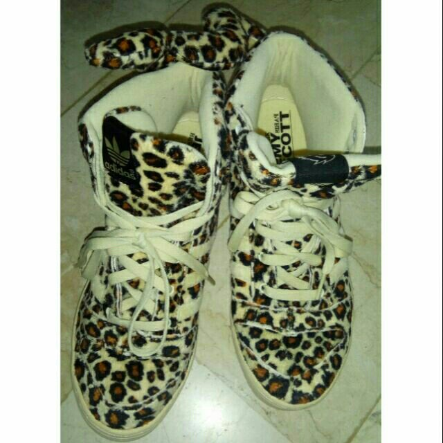 Authentic Adidas Jeremy Scott Leopard Tail Sneakers