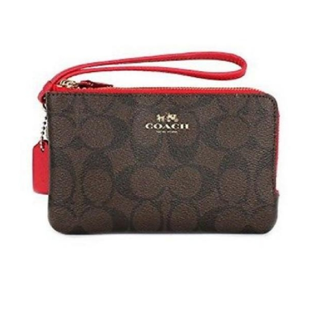 bede51d35a40 inexpensive authentic coach double zip wristlet wallet luxury bags wallets  on carousell 75792 3f81c