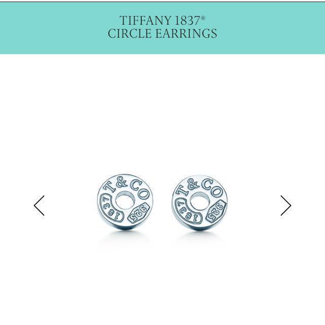 Authentic Tiffany 1837 Circle Earrings Women S Fashion Jewellery On Carou