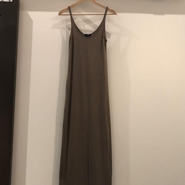 Babaton olive maxi dress