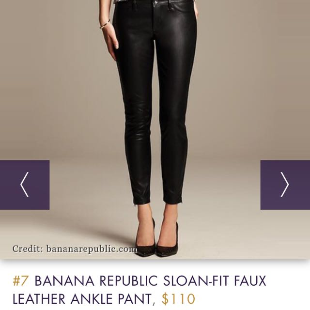 Banana Republic Faux Leather Pants