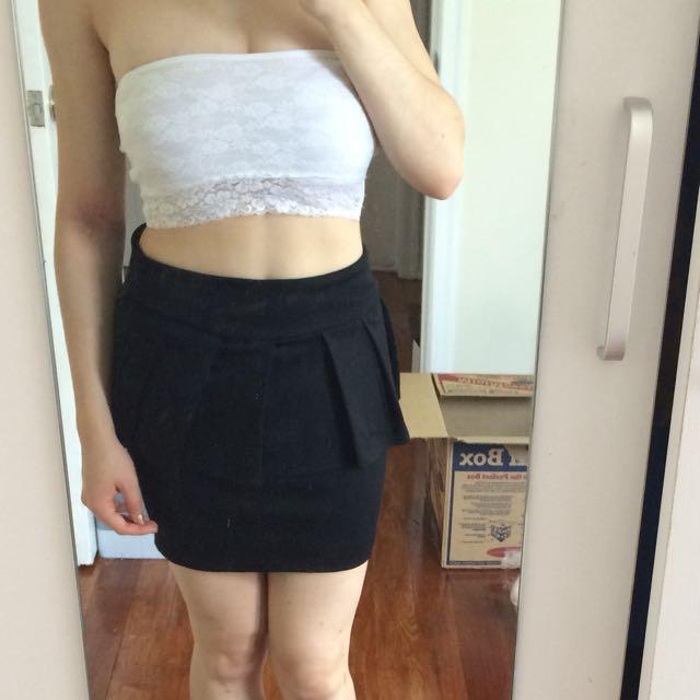 Black peplum skirt-8