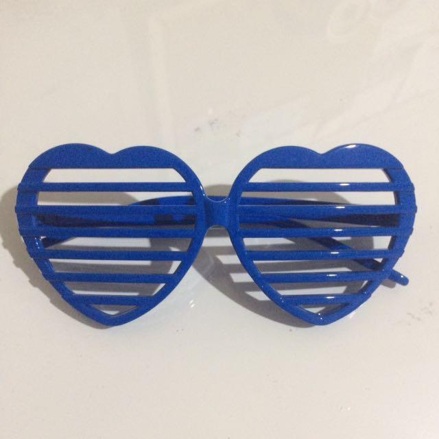 Blue Heart Glasses