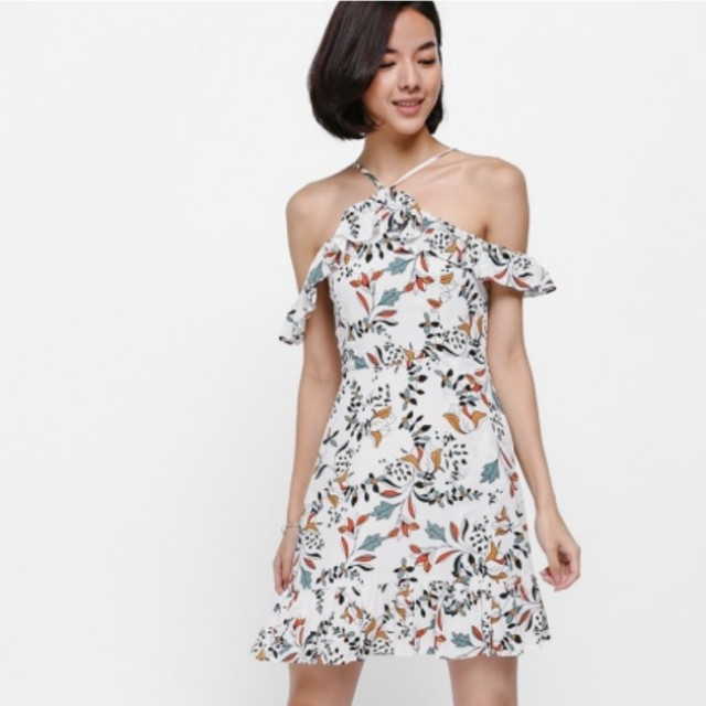 BN Love Bonito Ereine Printed Ruffle Dress