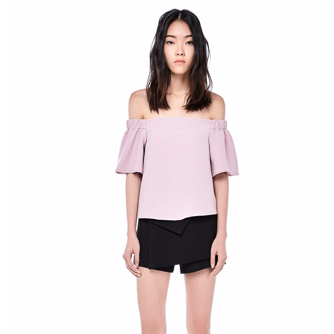 202b376a791 BN TEM Offshoulder in Nude/Dusty Pink, Women's Fashion, Clothes ...