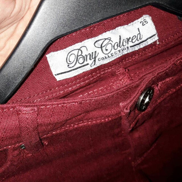 BNY colored collection red jeans
