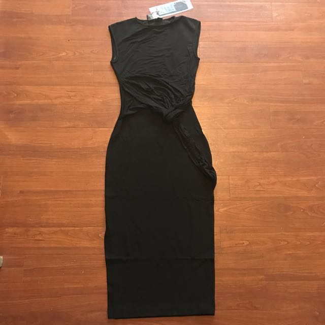Brand New Bless'ed Are The Meek Black Fluid Dress Size 6