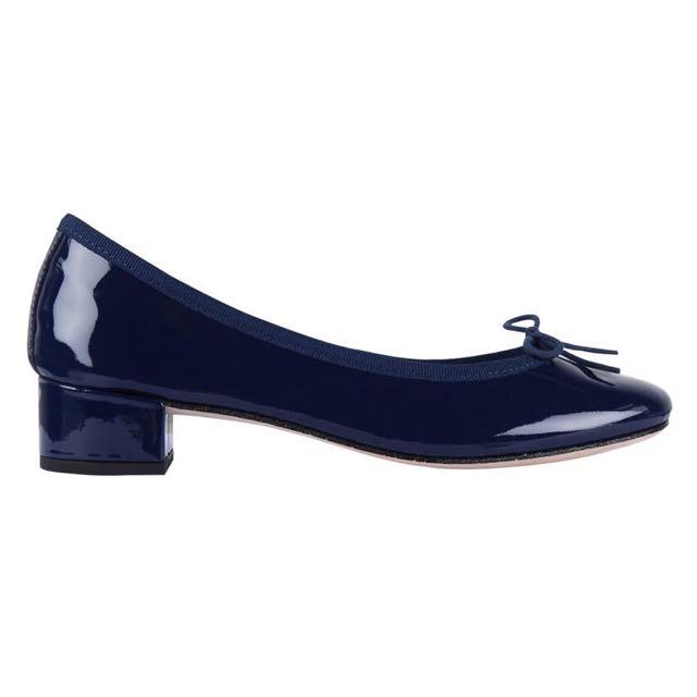 d0e25a6ae021 BRAND NEW) REPETTO CAMILLE BALLERINA IN PATENT LEATHER CLASSIC BLUE ...