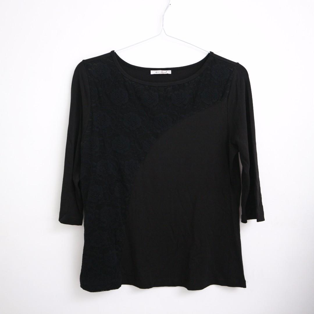 Brocade Black Blouse