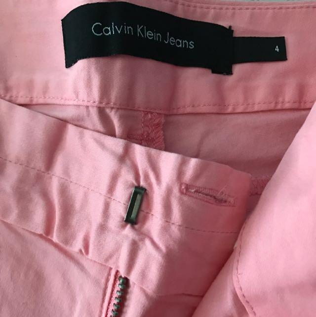 Calvin Klein High Waist Pink Shorts