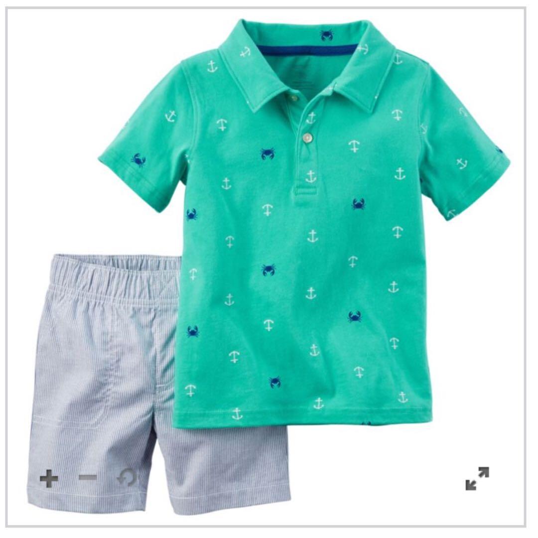 Carter's Nautical Polo & Shorts Set 9M
