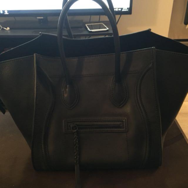 Celine black phantom bag