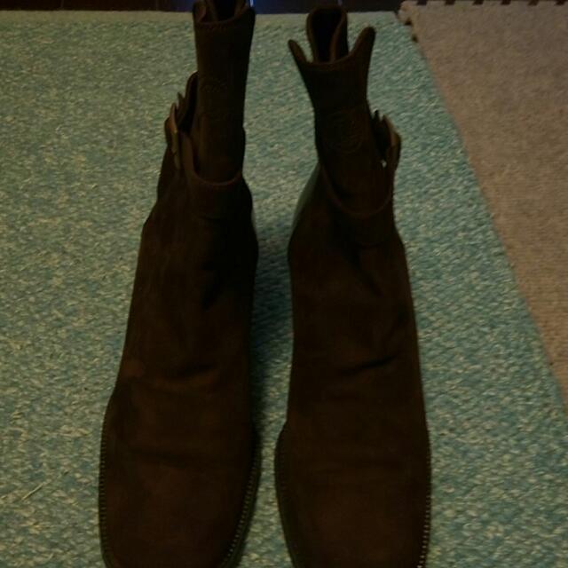 Chanel麂皮咖啡靴子38.5
